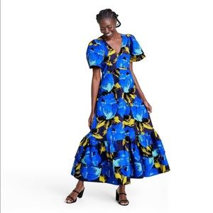 Floral Puff Tiered Dress Christopher John Rogers